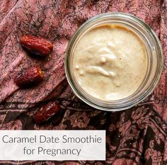 Dates are an excellent source of folate and fiber during pregnancy. Enjoy them in this vegan caramel date smoothie. Date Fruit Recipes, Fruit Juice Recipes, Fruit Smoothies, Healthy Smoothies, Smoothie Recipes, Best Vegan Recipes, Healthy Recipes, Veggie Recipes, Yummy Recipes