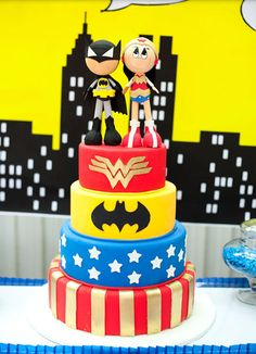 The Greatest and Cutest Superhero Duo CAKE!!!! (boy & girl)