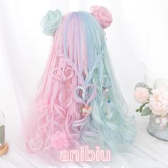 Pennycrafts is one of the leading online stores offering sailormoon ,sakura cardcaptors and kawaii anime stuffs with the most reasonable price and high quality. Cosplay Hair, Cosplay Outfits, Cosplay Wigs, Kawaii Hairstyles, Pretty Hairstyles, Wig Hairstyles, Fantasy Hairstyles, Pastel Wig, Pink Wig