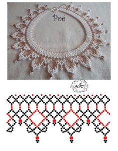 Free pattern for beaded necklace. Crafted by beadweaving seed beads. DIY bead jewellery making Diy Necklace Patterns, Beaded Jewelry Patterns, Beading Patterns Free, Beading Tutorials, Free Pattern, Seed Bead Jewelry, Bead Jewellery, Jewellery Making, Seed Beads