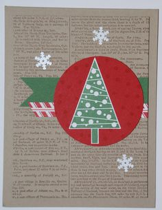 Festival of Trees Photopolymer BUNDLE & Dictionary Background stamp - Crumb Cake, Whisper White, Real Red, Garden Green, Nordic Noel DSP
