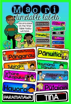 Maori Timetable Labels {For daily class routines in NZ} Kia Ora, Fun Classroom Activities, Classroom Ideas, Maori Words, Class Routine, Teaching Resources, Teaching Ideas, Creative Writing, Classroom Management