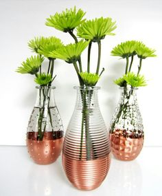 Copper Flower Vase