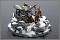 Dwarf Organ Gun #dwarf #dwarfs #organgun #whfb #warhammer #aos #ageofsigmar #gamesworkshop #miniatures #minis #wargaming #hobby #propainted #propainting