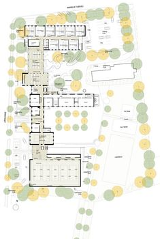 Image 14 of 14 from gallery of Marselisborg High School / GPP Architects. Courtesy of GPP Architects Education Architecture, School Architecture, Architecture Plan, School Floor Plan, School Plan, School Building Design, School Design, High School, How To Plan