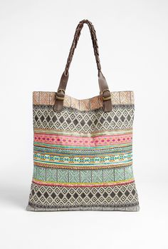 Miao Ethnic Cotton Tote Bag by Star Mela. The search for a great beach tote continues...