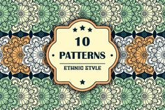 10 seamless patterns in ethnic style by ViSnezh on @creativemarket