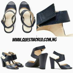 Next Block Heel Sandals Navy Size /41 #16000 www.questworld.com.ng Pay on delivery in Lagos. Nationwide Delivery