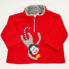 MONKEY  PULLOVER by #TuffKookooshka in red (also in orchid) $58