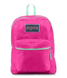 Jansport Overexposed Backpack - Fluo Pink Mint To Be Green Available at www.canadaluggagedepot.ca