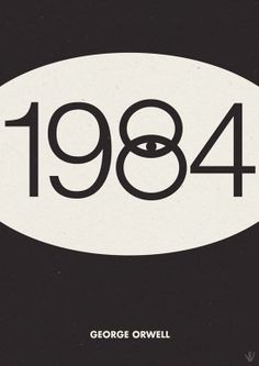 Cover of 1984, by George Orwell. One of my favorite books.
