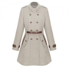 To find out about the Double Breasted Banded Collar Belt Woolen Coat at SHEIN, part of our latest Outerwear ready to shop online today! Look Fashion, Womens Fashion, Cheap Fashion, Street Fashion, High Fashion, Cute Coats, Double Breasted Coat, Mode Style, Autumn Winter Fashion