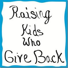 Raising Kids Who Give Back - simple things you can do to help children develop empathy and generosity. From @MamaSmiles