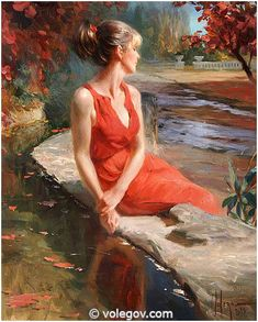 """In old park Sant Miquel del Fai"", 81x65 cm, oil on canvas, 2015. painter Vladimir Volegov"