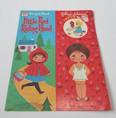 VTG Whitman Paper Dolls Little Red Riding Hood Uncut Doll Clothes 1972 Story Too