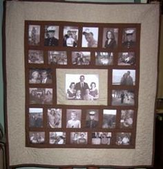 50th anniversary quilt if i only had the time ... AND a brain lol ... : quilt with family pictures - Adamdwight.com