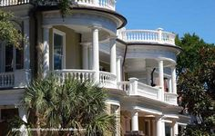 How would you like to sit a spell on this classic Southern #porch in Charleston SC? Front-Porch-Ideas-and-More.com #frontporch