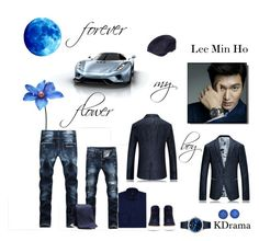 """Flower boy: Lee Min Ho"" by ohitsjanedoe ❤ liked on Polyvore featuring Emporio Armani, BOSS Hugo Boss, No. 288, men's fashion and menswear"
