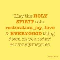 The Holy Spirit is your help in EVERY situation. #DivinelyInspired