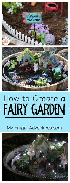 Fun and whimsical fairy garden for indoor or for outdoor use. Such a fun children's craft to add a little magic to your yard.: