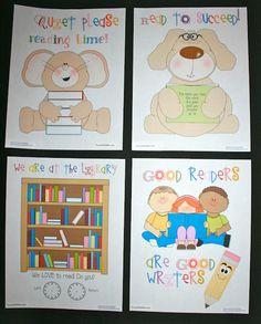 Classroom Freebies: 4 Reading Posters