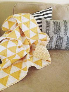 Modern Customizable Triangle Quilt.