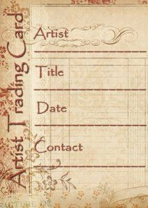ATC Artist Trading Card Labels Vintage by LiveLearnKreate on Etsy