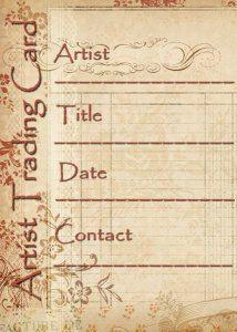 ATC Artist Trading Card Labels  Vintage