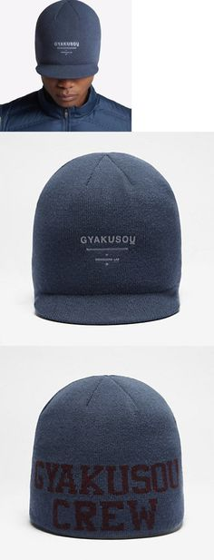 Hats and Headwear 158918: Nikelab Gyakusou Radar Knit Running Beanie Cap (Blue Wine Red Silver) 842815-010 -> BUY IT NOW ONLY: $70 on eBay!