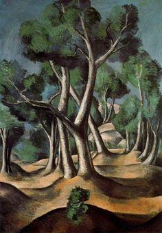 """Andre Derain """"Cubist Grove"""", 1912 (France, Cubism, 20th cent.)"""