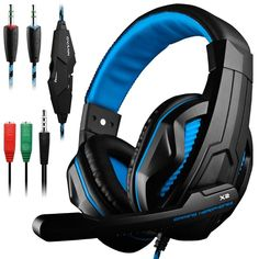 Gaming HeadsetDLAND 3.5mm Wired Bass Stereo Noise Isolation Gaming Head  New