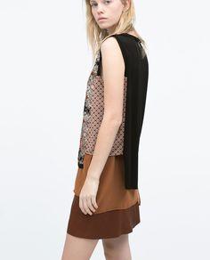 Imagen 2 de BLUSA ESTAMPADO DOBLE CAPA de Zara