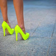 Neon pumps. Next purchase.
