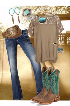 """the cowgirl in me"" by mattiestockman on Polyvore"