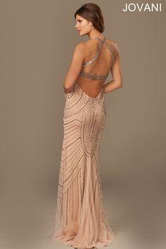 Jovani Nude Sleeveless Elegant Dress #889149