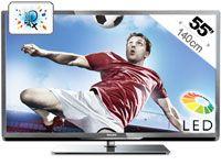 Profitez de toute une gamme de contenus avec le téléviseur LED Smart 3D Philips55PFL5507. Vous ne serez pas déçu par les superbes images LED Full HD et lespossibilités infinies de Smart TV. Découvrez le monde de la 3D !Wi-Fi intégré pour une fonction Smart TV sans filVaste sélection d'applications en ligne/vidéos à louer/télévision à la demandeContrôlez le téléviseur avec votre smartphone, tablette ou clavierPhotos, musique et films sur votre téléviseur grâce à la fonction DLNARecherchez…