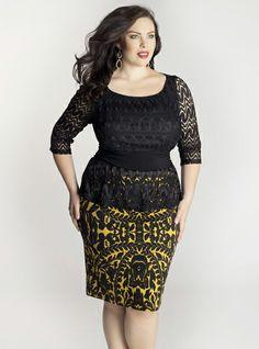 f6ab645583ea17 Nicolette Peplum Dress in Mustard. IGIGI by Yuliya Raquel. www.igigi.com