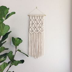 Macrame Patterns/Macrame Pattern/ Macrame Wall Hanging Pattern/Wall Hanging/Modern Macrame/Pattern/Title: Clove Hitch on Repeat
