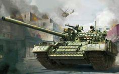ОБТ Т-55АМВ Сирийской Арабской Армии