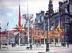 The Autochrome is an early color photography process. Patented in 1903 by the Lumière brothers in France and first marketed in 1907. It was the principal color photography process in use before the advent of subtractive color film in the mid-1930s.   eBay!