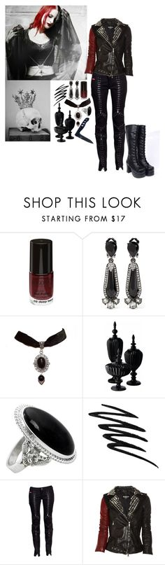 """Nowhere, No-one, Nothing"" by jeanettebeatrice ❤ liked on Polyvore featuring Oscar de la Renta, Lazy Susan, NOVICA, Prescriptives, Philipp Plein, Balmain, Gerber and Nana'"