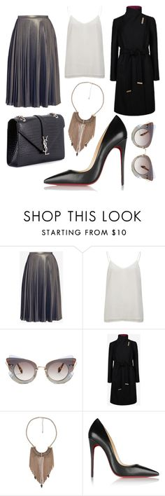 """""""Untitled #600"""" by happycarly2 ❤ liked on Polyvore featuring Ted Baker, Vero Moda, Miu Miu, Christian Louboutin and Yves Saint Laurent"""
