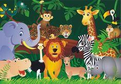 Jungle behang Dieren XL