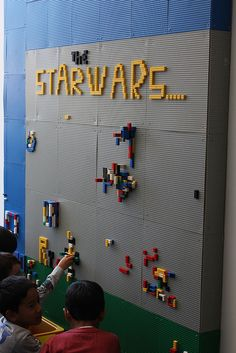 How fun for a playroom! This is the only way I want legos in my house!