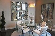 Dining with glass table