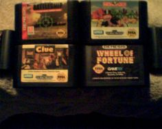Sega Genesis Lot #4 (Jeopardy)(CLUE)(WHEEL OF FORTUNE)