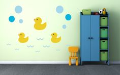 Ducks Bubbles Wall Decal