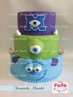 Monsters university cake  Informações e orçamentos: ferminatti@gmail.com  www.fernandaminatti.com.br