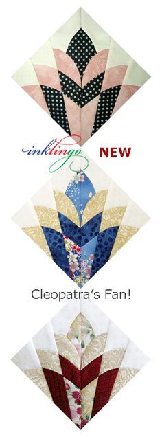 Cleopatra s fan quilts on pinterest cleopatra fans and templates