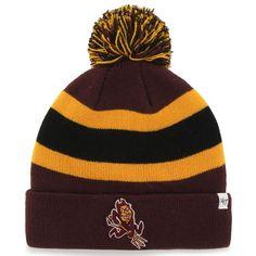 Arizona State Sun Devils  47 Brand Breakaway Knit Beanie – Maroon Crochet  Cap 00630ba8a58e